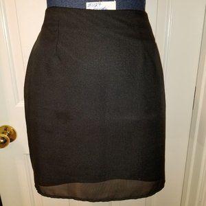"""#427 Jay Jacobs Black Mini 16.5"""" Long Skirt Sz. 3,"""
